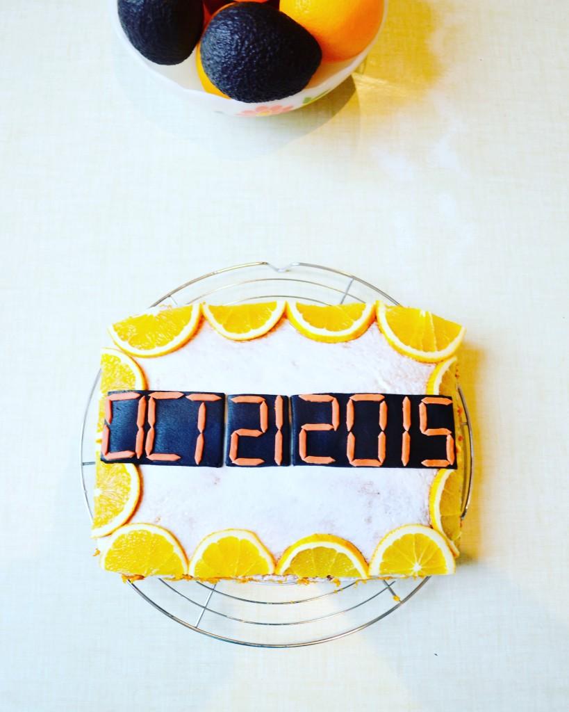 back to the future date OCT 21 2015 orange drizzle cake