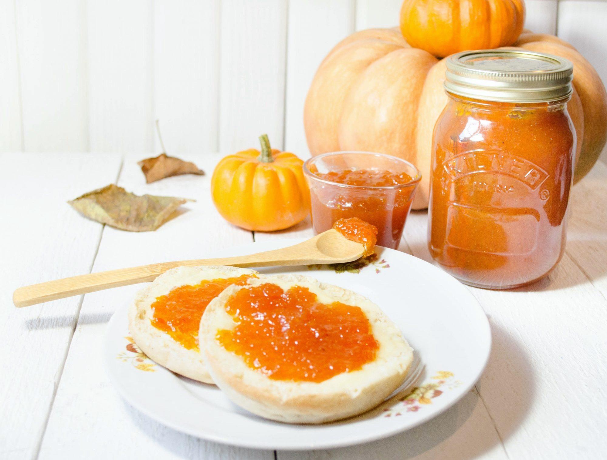 pumpkin-jam-confiture-de-citrouille-cannelle-epices-english-muffin