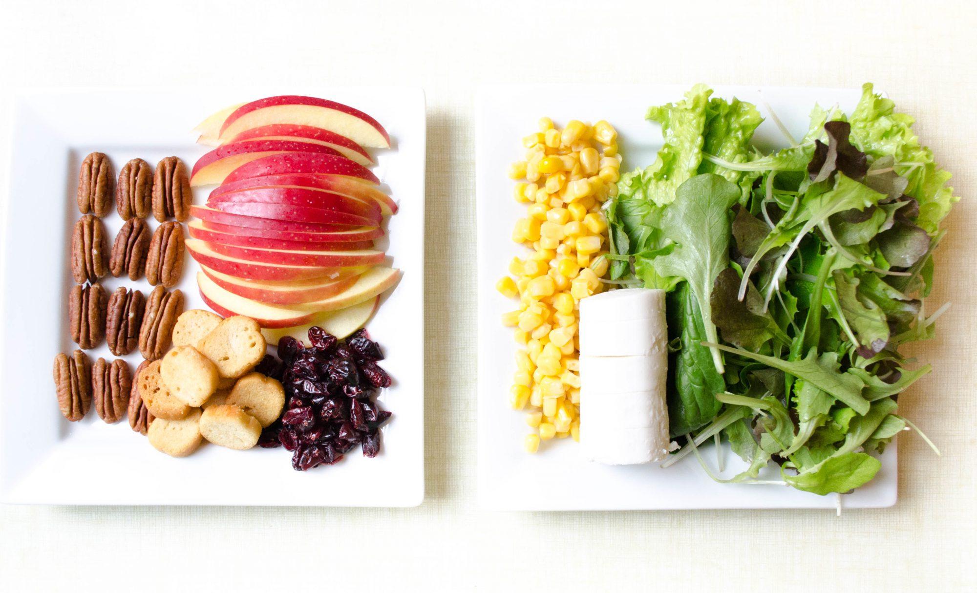 salade-noix-pecan-pomme-cranberry-crouton-chevre-frais-mais